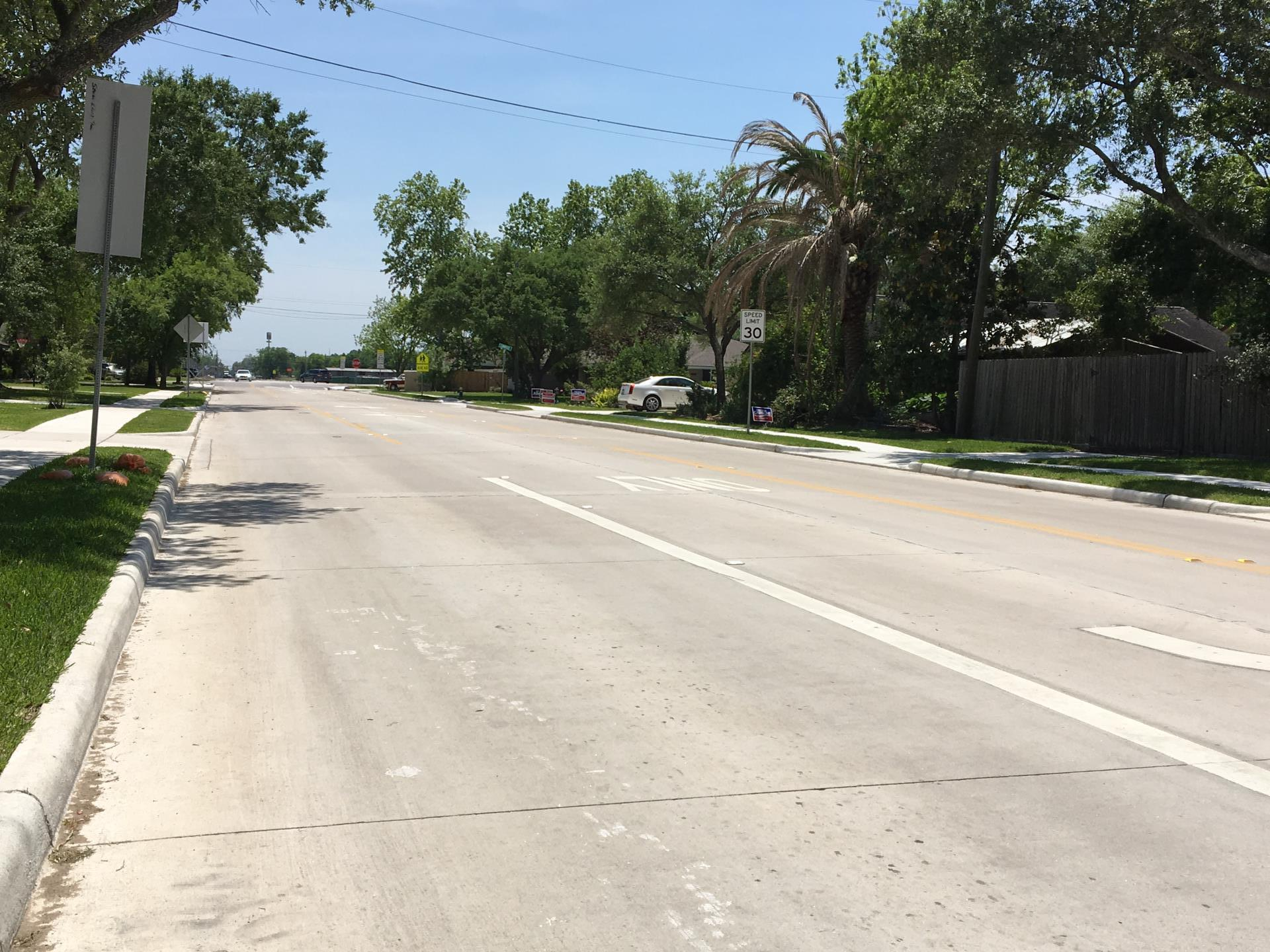 Old Alvin looking south