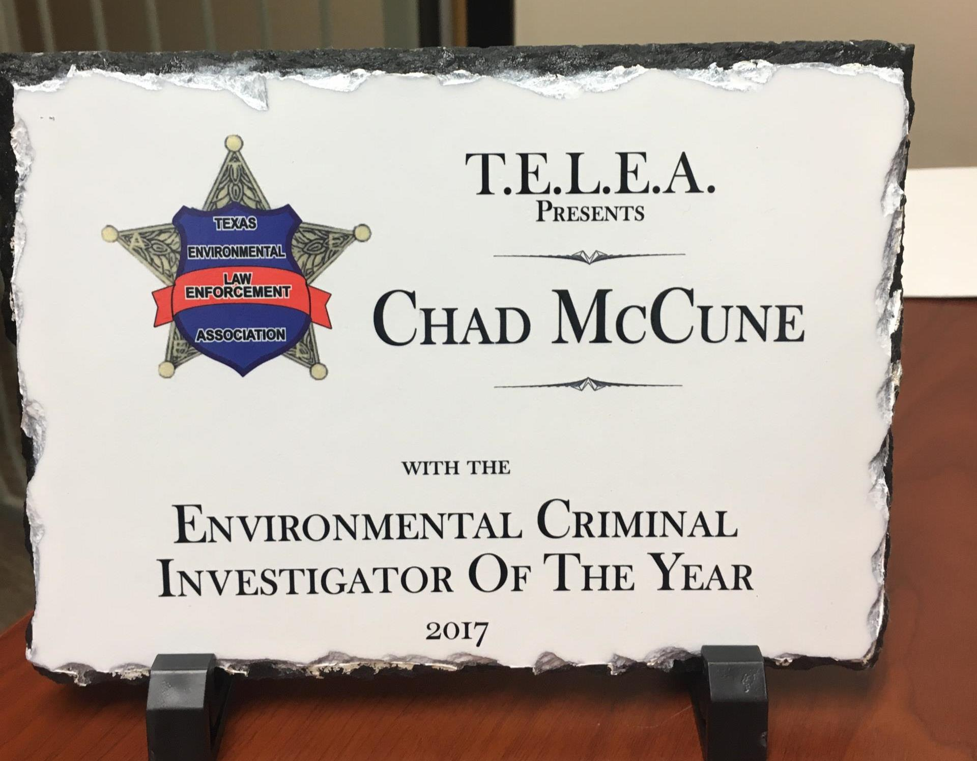 Pearland receives awards from Texas Environment Law Enforcement Association.
