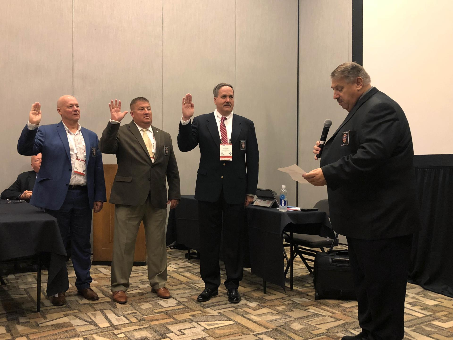 Fire Chief Vance Riley was sworn in as Vice Chairman in the EMS Section of IAFC