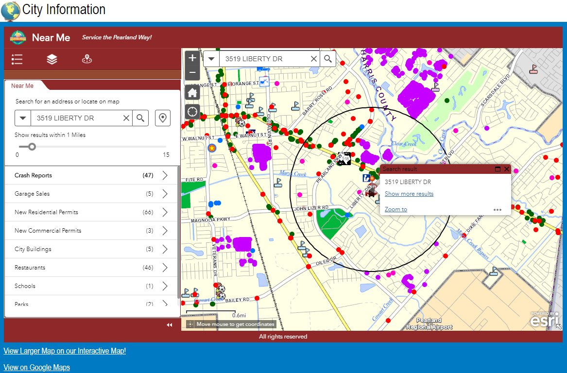 GIS Interactive Map