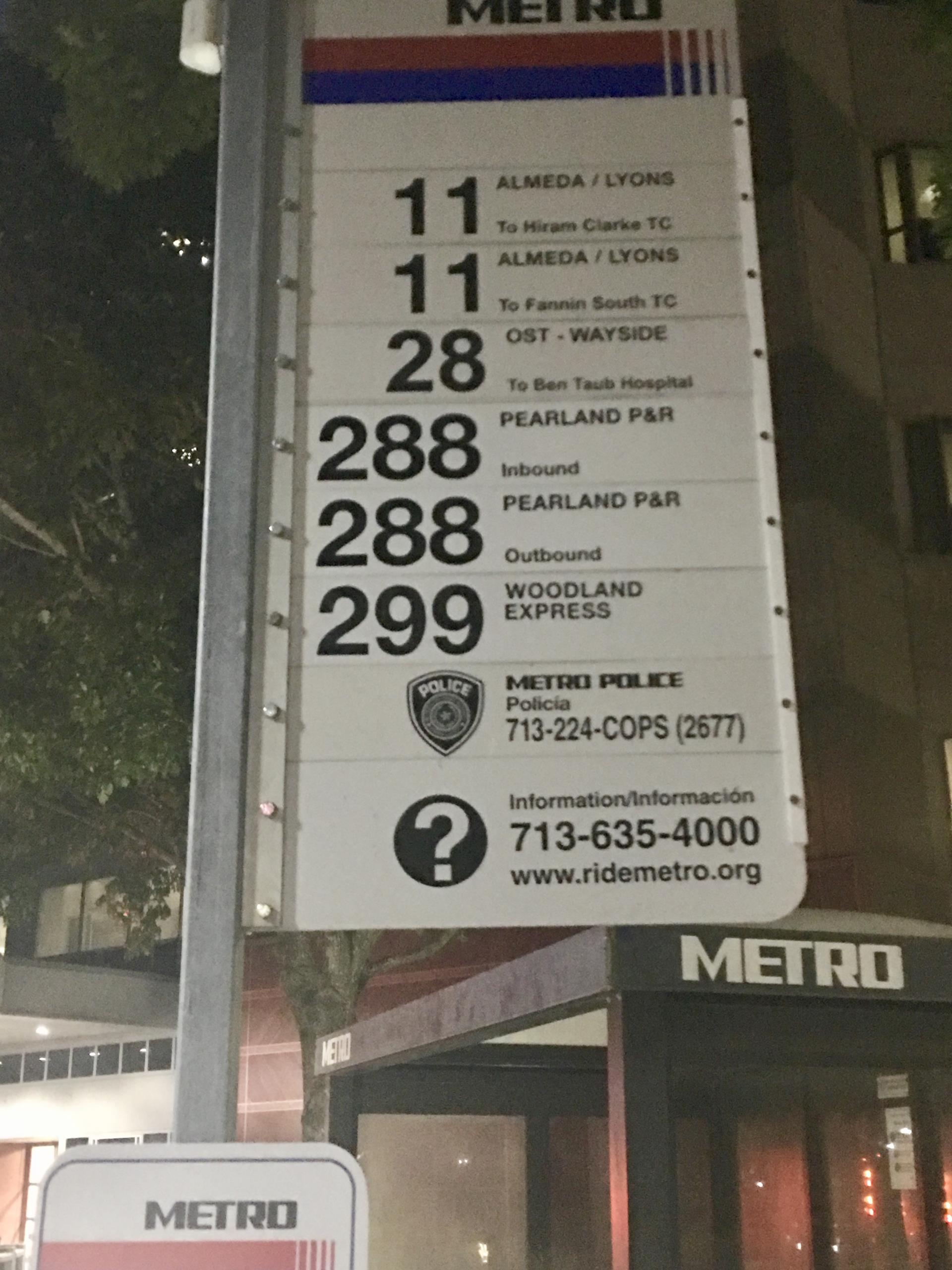 Park and Ride Metro Sign