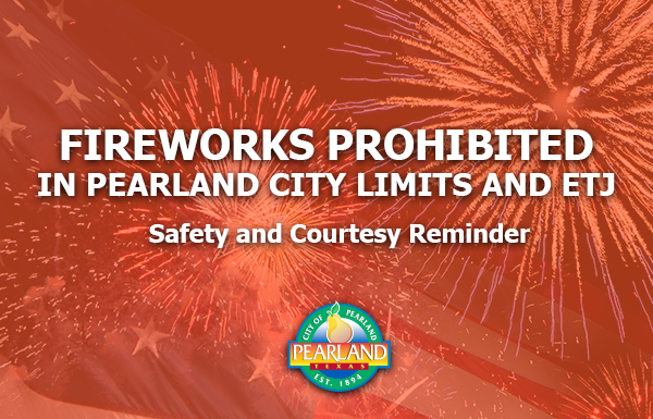 Click here to read the Fireworks Prohibited News Release