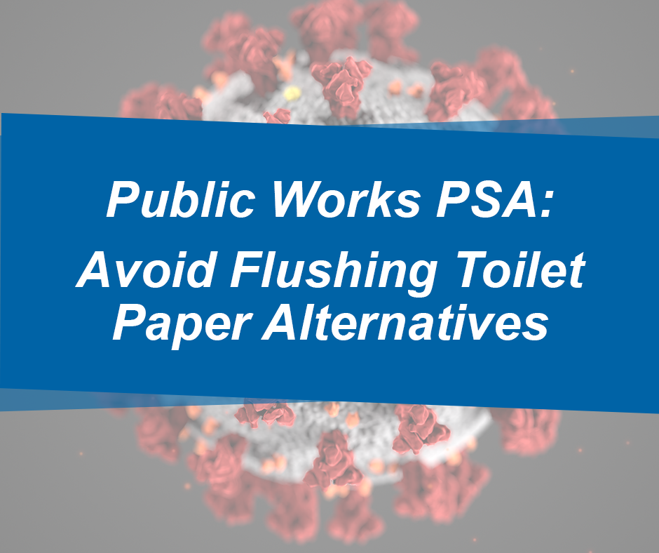 Public Works PSA: Avoid Flushing Toilet Paper Alternatives