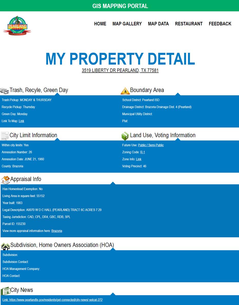 GIS Property Detail
